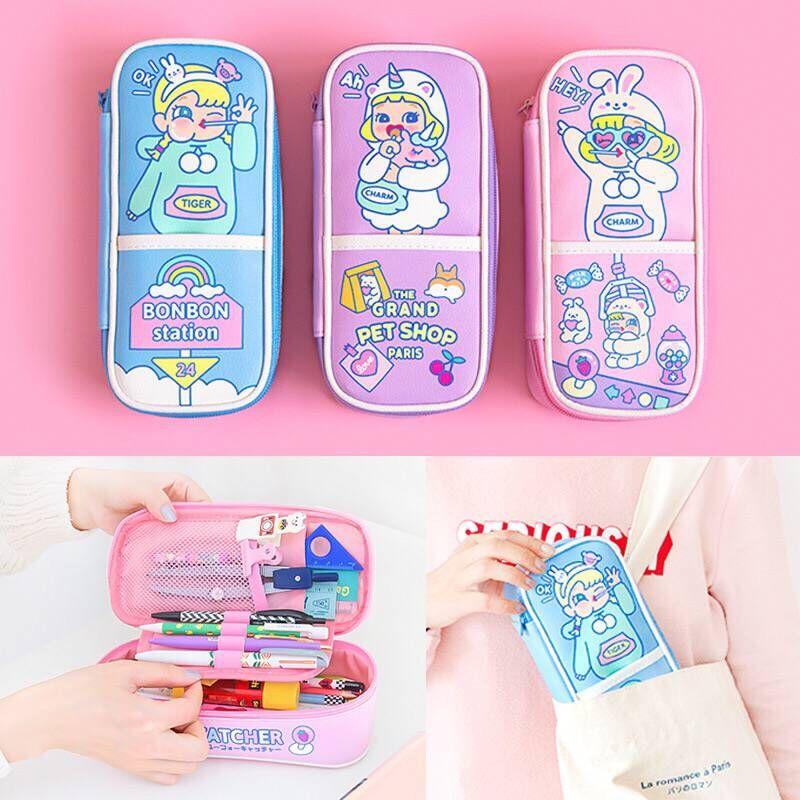 Bentoy meninas casos cosméticos titular milkjoy unicórnio beleza maquiagem saco estudante lápis caso melhor qualidade bonito japão coreia caneta caixa