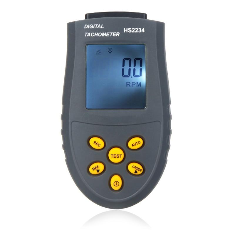 Gran oferta de tacómetro láser Digital portátil sin contacto tacómetro HS2234 medidor de velocidad LCD RPM instrumento de medición de velocidad de prueba