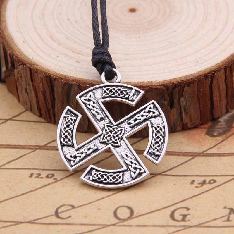 Collar de aleación vikingo colgante con runas para hombre escandinavo como regalo