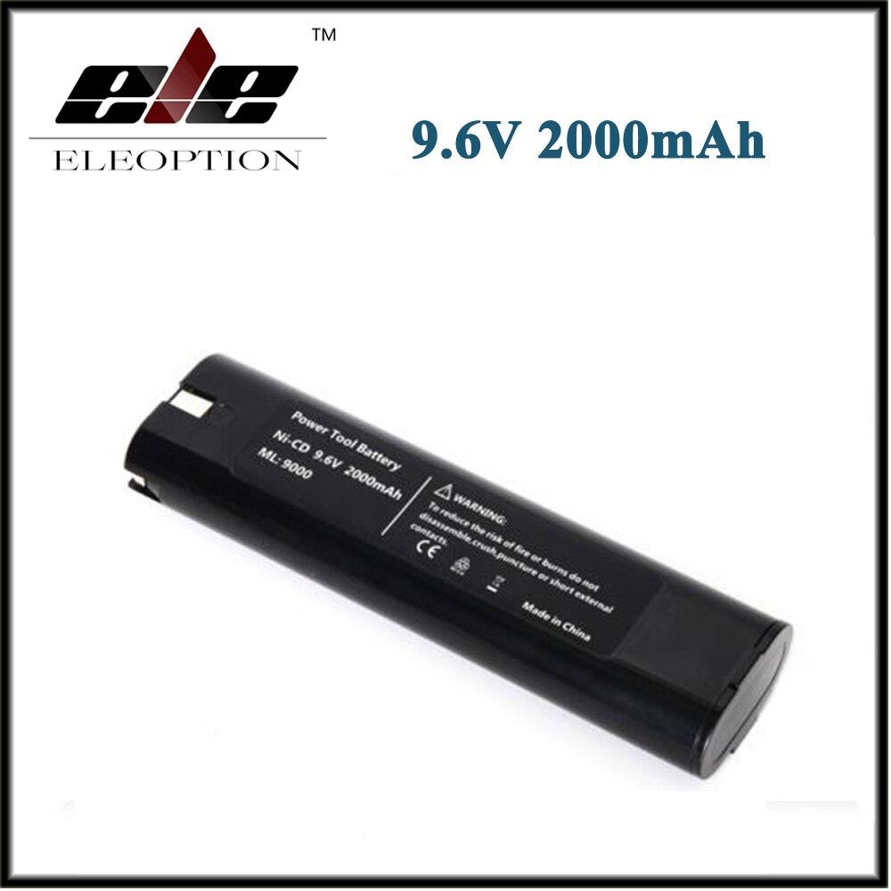 9,6 V 2000mAh 2.0Ah reemplazo de la batería recargable batería de herramientas eléctricas para Makita Mak 9000, 9001, 9002, 9033, 9034, 632007-4 Ni-CD