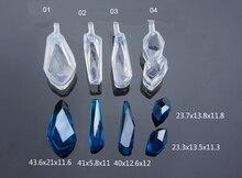 Transparent Silikon diamantschnittfläche Anhänger Form Für Harz Echte Blume DIY Mould Schmuckherstellung Werkzeug Unregelmäßigen stein