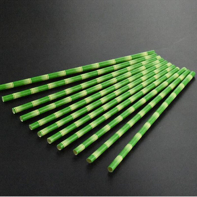 5000 unids/lote pajitas de papel de bambú para el hogar niños Favor decoración para fiesta de boda pajitas desechables para beber