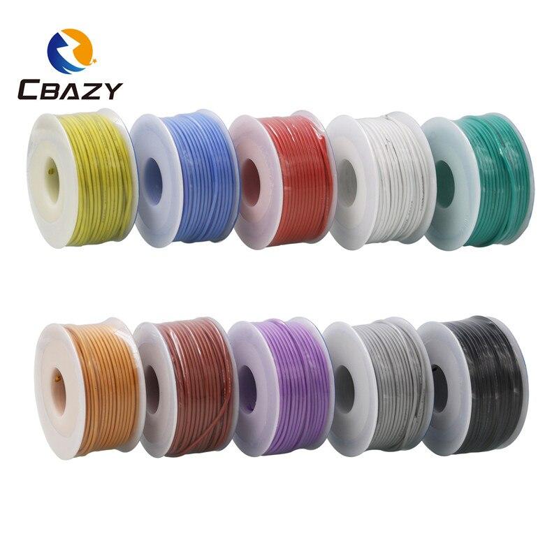 Cable de silicona flexible 16AWG 8 M y cable de cobre estañado trenzado 10 colores disponibles DIY diámetro exterior 1,8mm