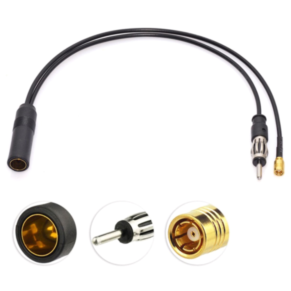 Accesorio SMB Cable aéreo vehículo DIN antena convertidor Dab + FM/AM plomo divisor enchufe activo coche Radio adaptador inalámbrico