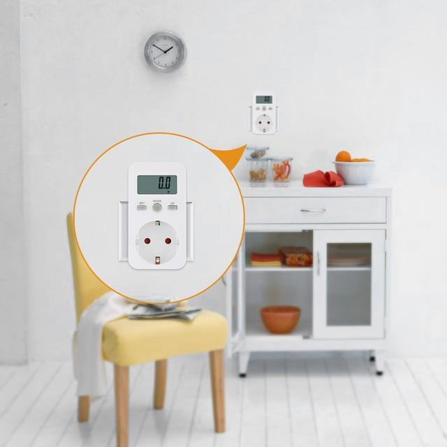 Enchufe Digital wattmeter Monitor de energía LCD medidor de energía eléctrica swr Meter uso monitoreo enchufe EU/AU/UK/US