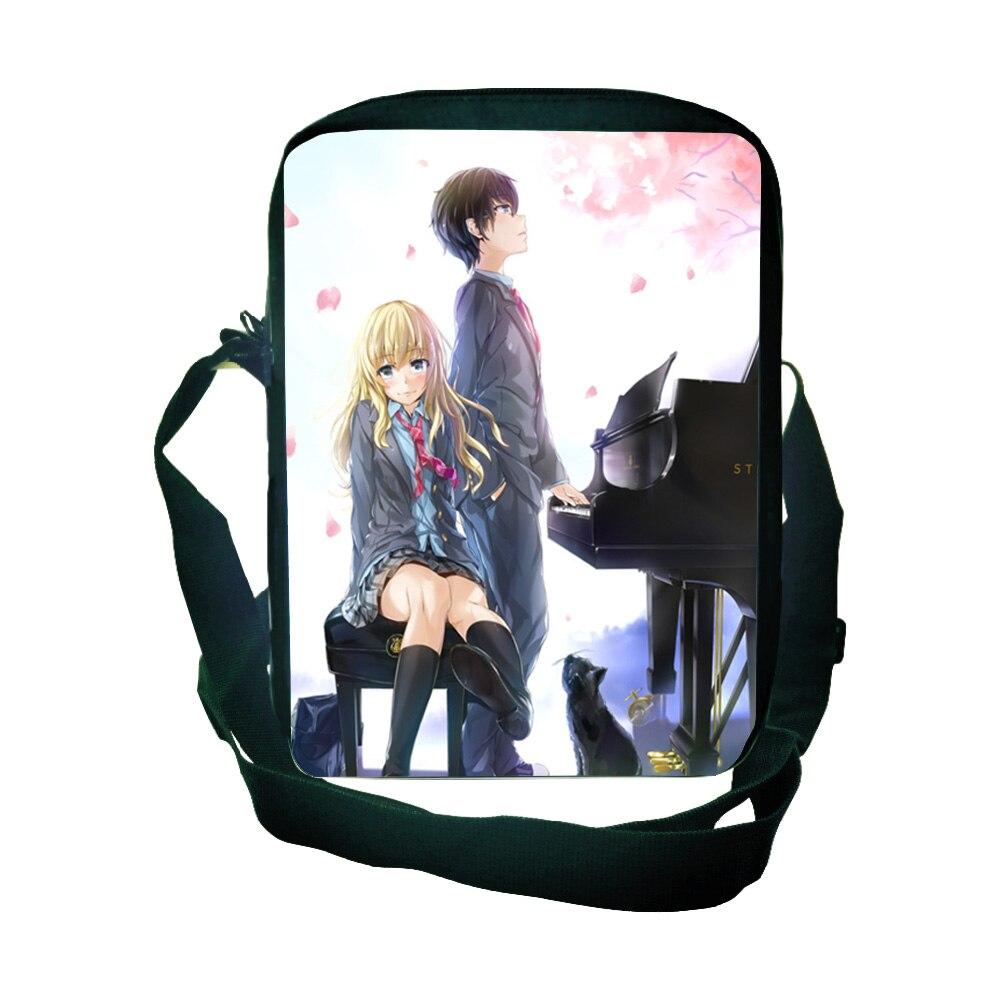Сумка через плечо с надписью «Your Lie in April» Shigatsu Wa Kimi No Uso, школьная мини-сумочка для мальчиков и девочек, Новая красивая Мужская и женская сумка для телефона