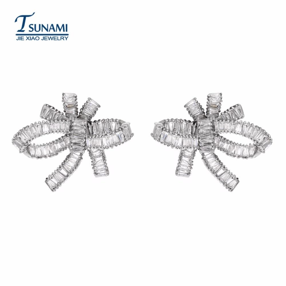 Роскошные и преувеличенные серьги с бантом и кисточками, изящные украшения, спроектированные в качестве свадебного подарка для женщин, для свадебного ER-084