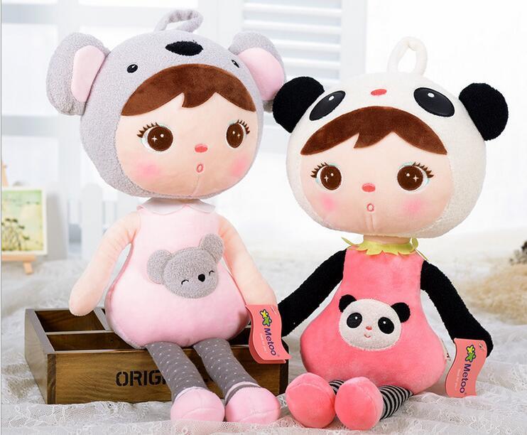 48cm kawaii peluches animales de peluche de dibujos animados niños juguetes para niñas niños Kawaii bebé juguetes de peluche Koala Panda bebé Metoo muñeca