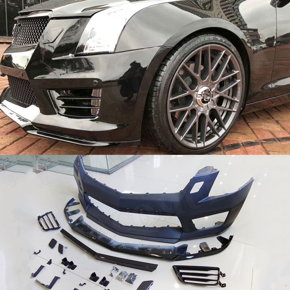 Front bumper Racing Mesh Grills Cover For Cadillac ATS 2014-2017 ATS-V Style Car Bumper Guard body kit