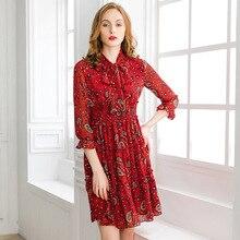 Pixy 와인 레드 스위트 미디 za 드레스 여성 하이 웨스트 리본 보우 칼라 짧은 드레스 여름 vestidos sukienka fashionnova elbise