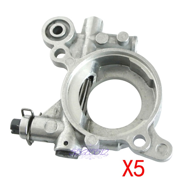 5 Pcs OIL PUMP Set For HUSQVARNA 362 365 371 372XP 385 390 Chainsaws