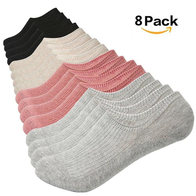 Mujeres Soild Color calcetín zapatillas novedad de verano lindo sólido Invisible antideslizante Calcetines de corte bajo Casual algodón transpirable calcetines tobilleros