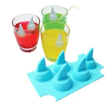 Trinken Ice Tray Coole Shark Fin Form Ice Cube Freeze-Mold Eismaschine Mould