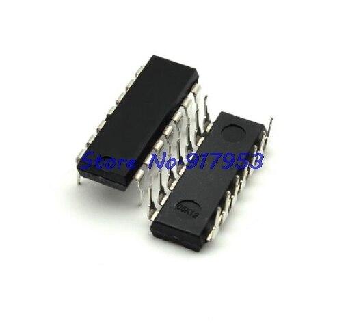 10 unids/lote 74LS00 74LS00N 7400 cuádruple 2-entrada NAND Gate DIP-14 en Stock