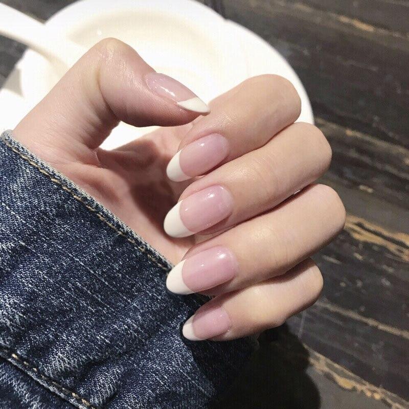 Накладные ногти для женщин, 24 шт./компл., розовые, в стиле Ins