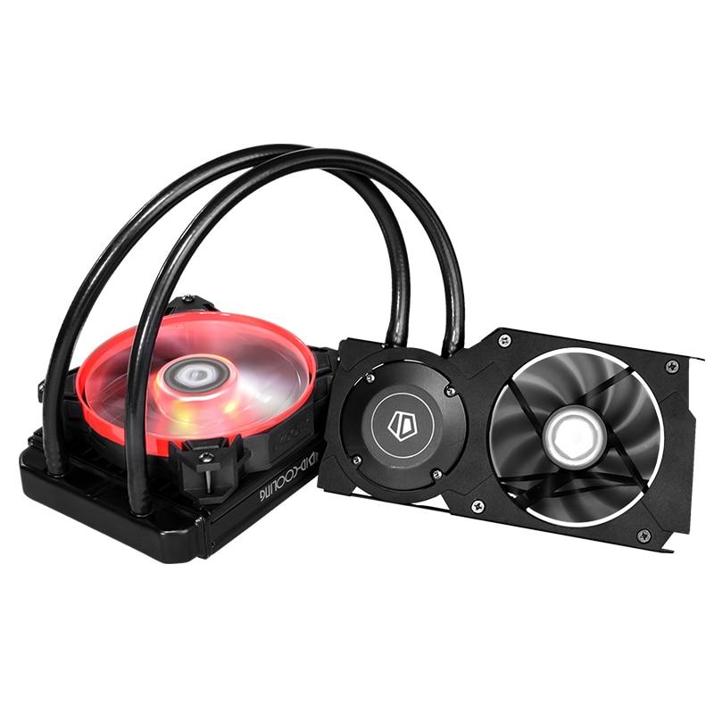 ID-COOLING FROSTFLOW 120VGA GPU кулер для воды AIO GPU жидкостный кулер совместимый RTX2070/2080/2080Ti, 5700/5700XT, 1070/1080 серия