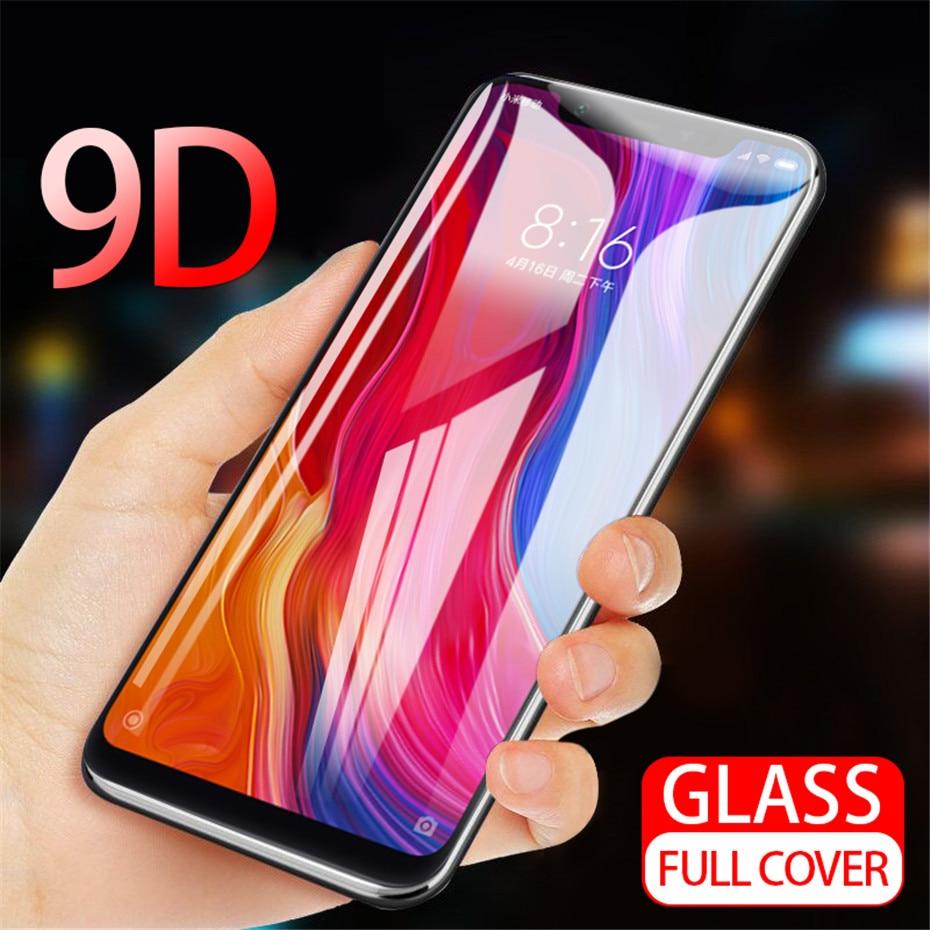 9D funda completa templada de cristal para OPPO A59 F1S F3 más R11 R11S más F5 F7 A1 A1K A7 V15 A9 F9 Pro Protector de pantalla frontal de la película