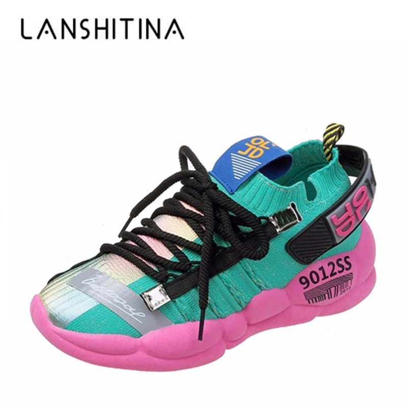 New 2020 Spring Fashion Women Casual Shoes Mesh Platform Autumn Sneakers Ladies White Trainers Chaussure Femme