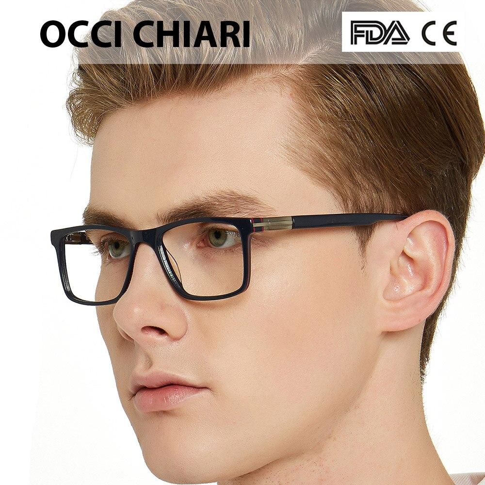 OCCI CHIARI gafas de moda para hombres marca diseñador primavera bisagra gafas montura clásica cuadrada Metal decorar W-CAPO
