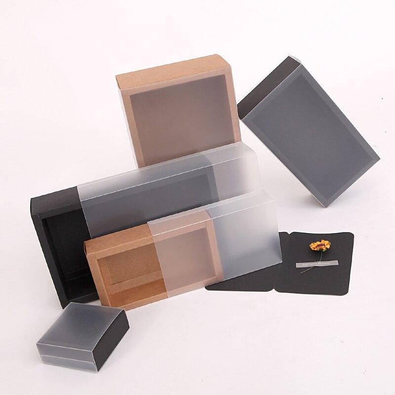 Caja rectangular de papel kraft, 10 unidades, bolsas de contenedor sanitario, Cajas de Regalo de estilismo para salpicadero, organizador de embalaje de alimentos para cigarrillos