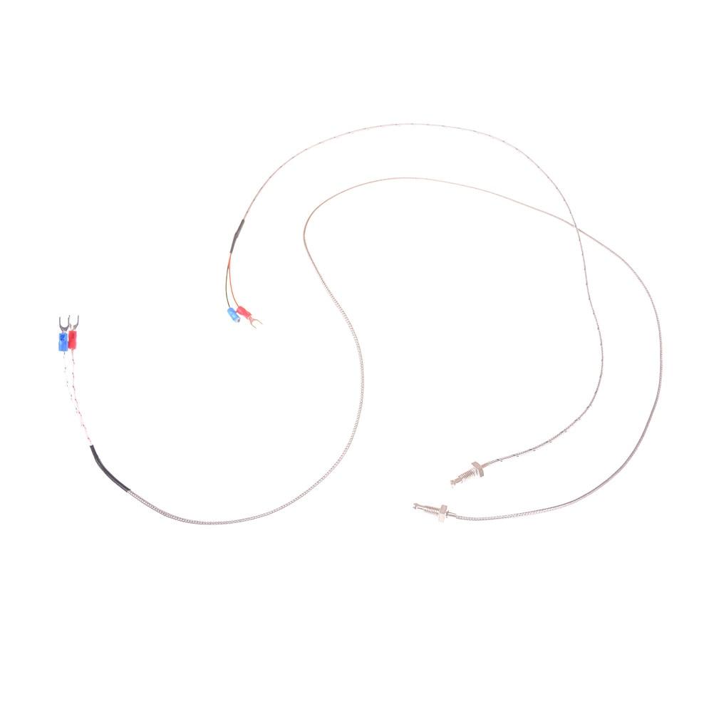 Cable de alambre tipo K controlador de Temperatura del termopar M6 Sonda de tornillo tipo K termopar 0,5 m/ 1m Sensor de temperatura Industrial