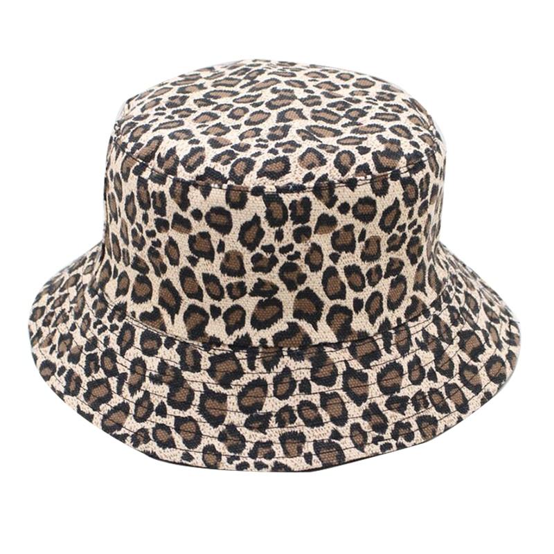 Sombrero de pescador con patrón de leopardo, gorra plegable Unisex con estampado, Gorros de Hip Hop, Gorros de verano 2019 para hombres, gorras de pesca para mujeres, Panamá, sombrero de pescador