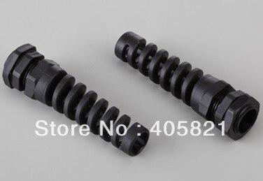 M12 IP68 alargado de plástico cable eléctrico de las articulaciones glándula de Cable para 3-6,5mm de Cable rango de