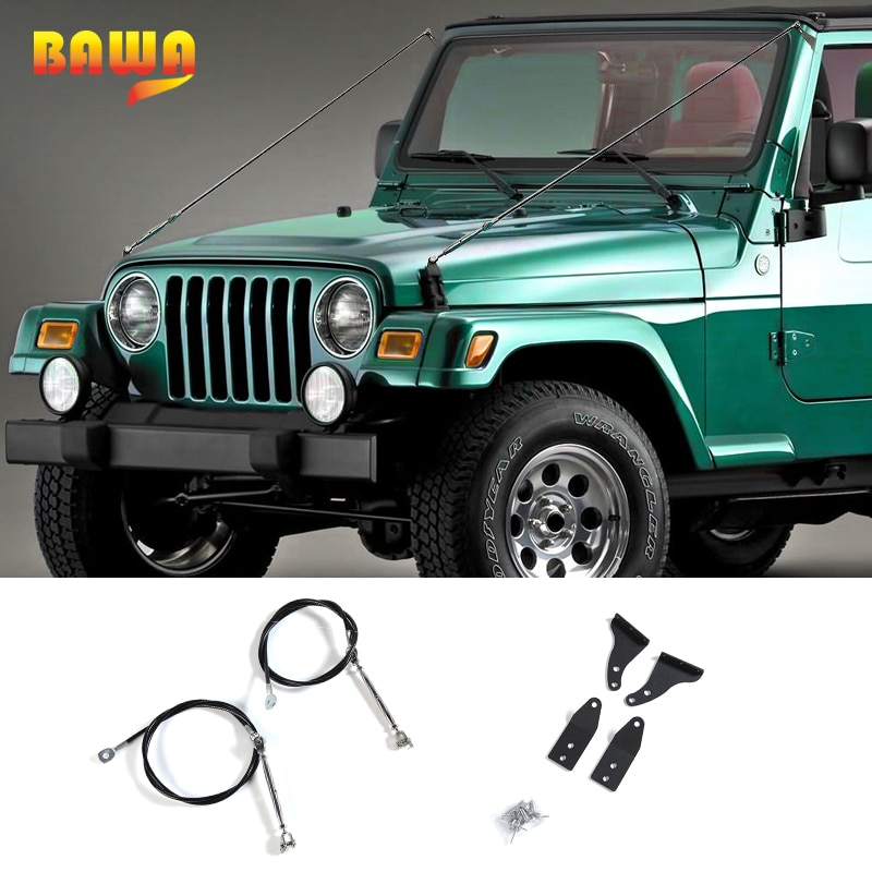 BAWA Protective Frames for Jeep Wrangler TJ 1997-2006 Removing Barriers Rope Accessories for Jeep Wrangler tj