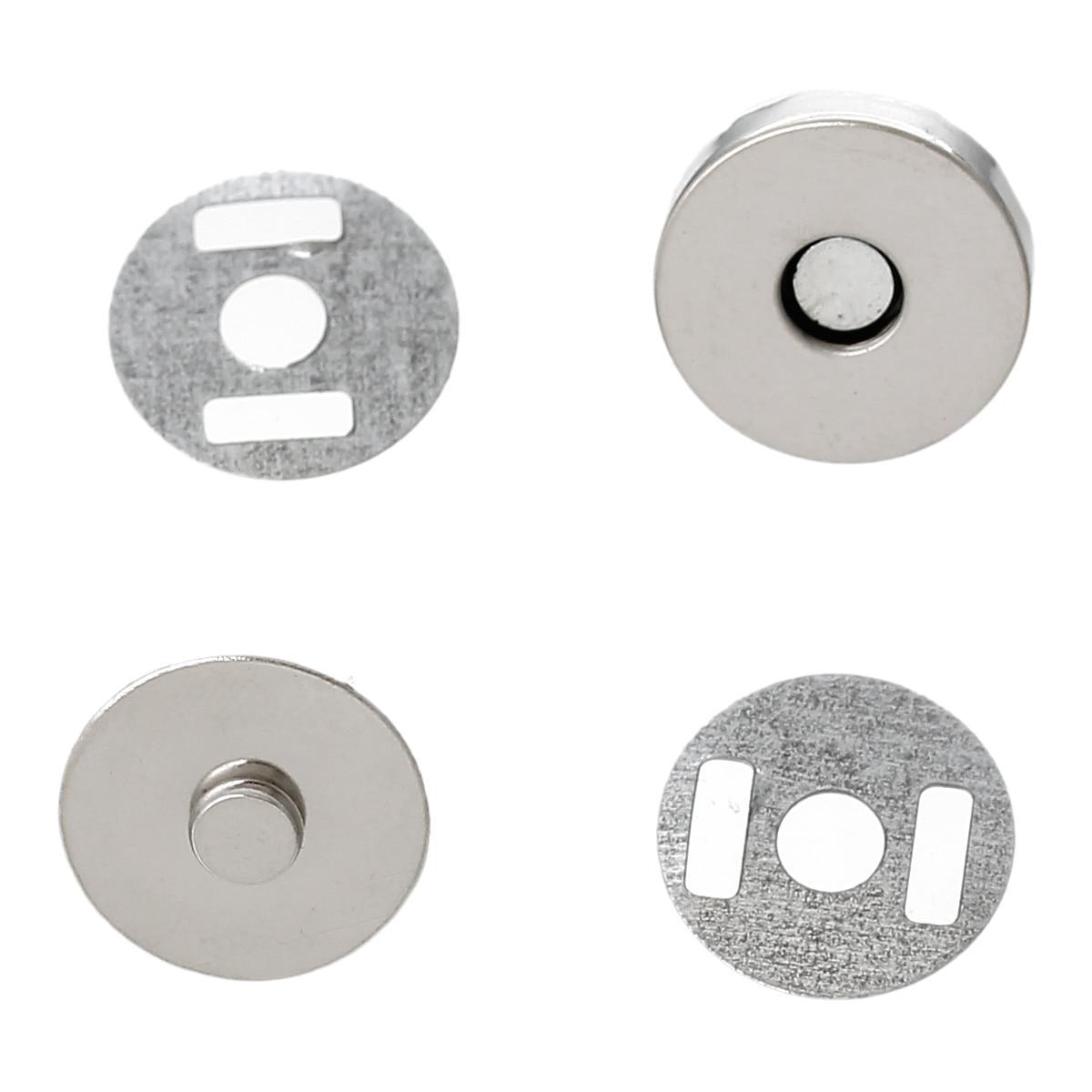 "DoreenBeads 20 Sets dull silver color Magnetic Purse Snap Clasps/ Closure for Purse Handbag 14mm(4/8"") Dia. (B20766)"