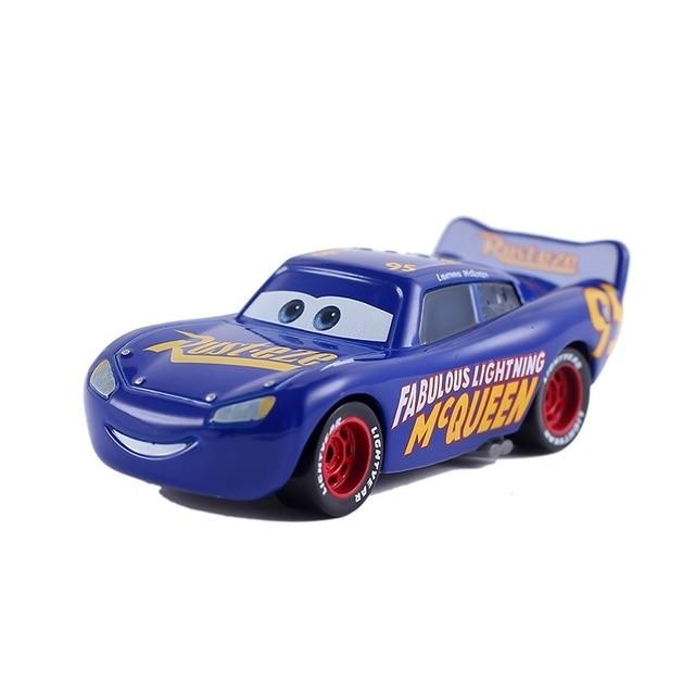 Cars Disney Pixar Cars 3  Lightning McQueen Toys Jackson Storm The King Mater 1:55 Diecast Metal Alloy Model Car Kid Gift Boy 4