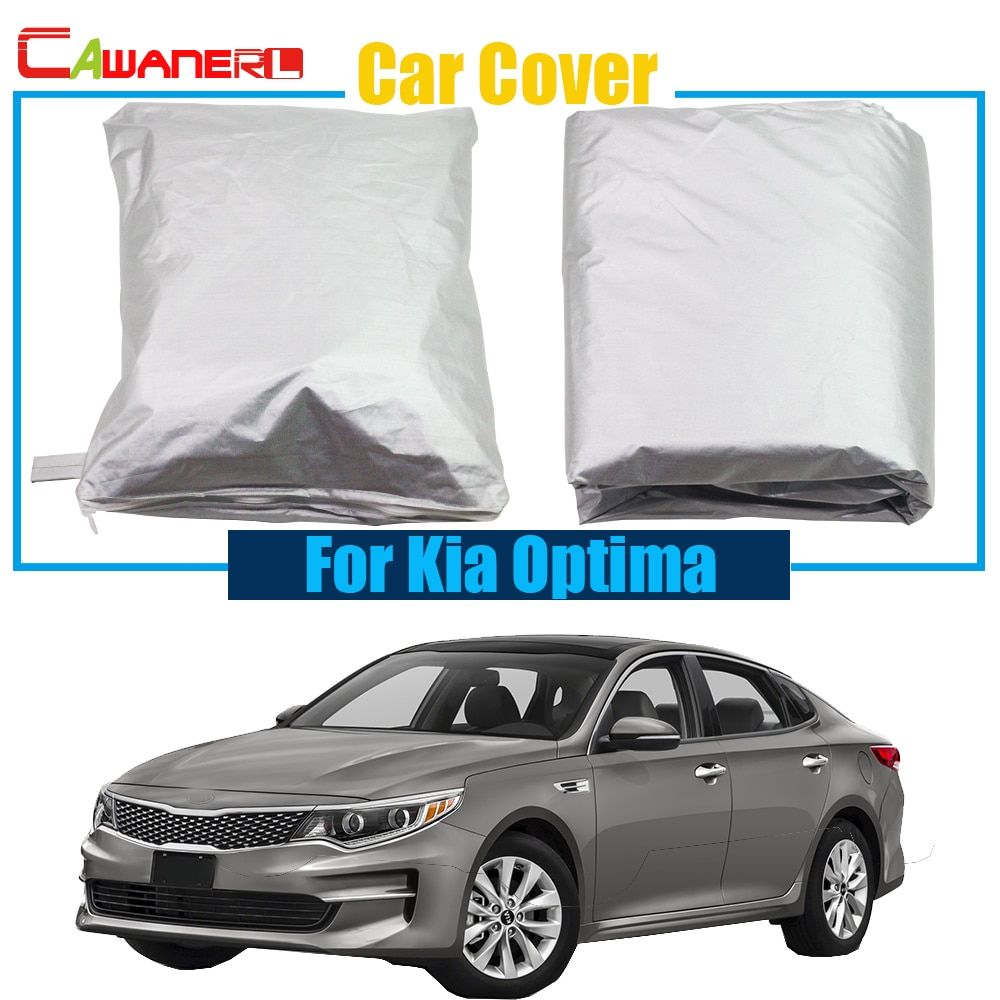 Cawanerl Car Cover UV Anti Sun Shade Rain Snow Resistant Protector Cover For Kia Optima Free Shipping !