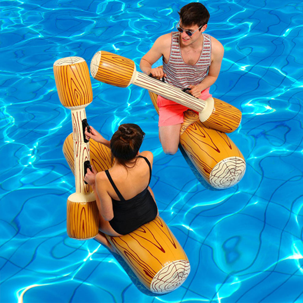 Sports nautiques pare-chocs jouets pour adultes enfants partie gladiateur radeau piscine flotteur jeu gonflable béquille Piscina