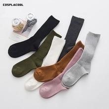 [COSPLACOOL] automne hiver chaussettes créatif nouveauté coton tas chaussettes femmes japonais harajuku couleur unie épais chaud tube meia