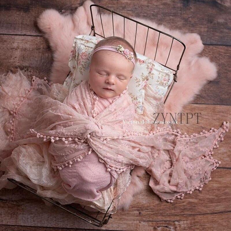 2019 envoltura de encaje para bebé accesorios de fotografía recién nacido accesorios de estudio de fotografía Flokati chica fotografía accesorio sesión de fotos