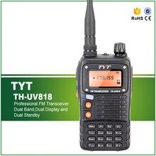 100% Original Portable Radio TYT TH-UV818 talkie-walkie 5 W VHF + UHF 128 mémoire CH FM Radio double bande affichage Interphone