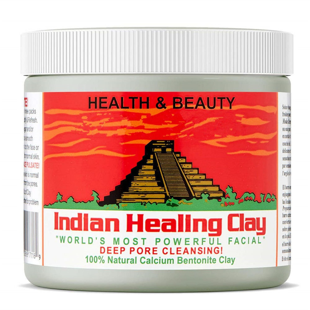 Skin Care Indian Healing Clay Facial Mask Blackhead Remover Deep Cleansing Brightens Skin Tone Shrink Pores Moisturizing Masks new yi xiangyuan essential oil of lavender moisturizing and lubricating five parts of deep cleansing pores set for facial care