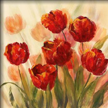 Hand Painted Oil Painting Misty Garden II-Floral Oil Painting Wall Art-Modern Oil Painting On Canvas Art Wall Decor