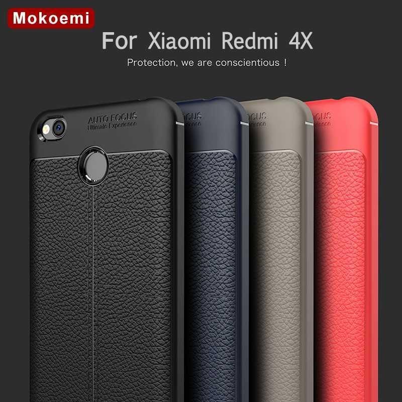 "Mokoemi модный Ударопрочный Мягкий чехол с узором Личи 5,0 ""для Xiaomi Redmi 4X, чехол для Xiaomi Redmi 4X, чехол для сотового телефона"