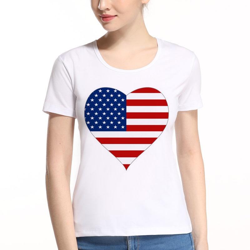 Bandeira americana coração design drinkin como lincoln 4th de julho dia da independência sexy mulher t camisa verão casual plus size superior l8-9