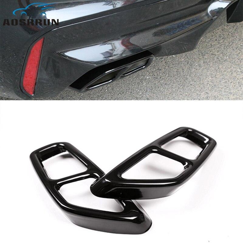Filtro de aire exhatuse de estilo de coche 2 a 4 accesorios de cubierta de coche para BMW G30 G32 G31 630i 640i 530i GT 2018