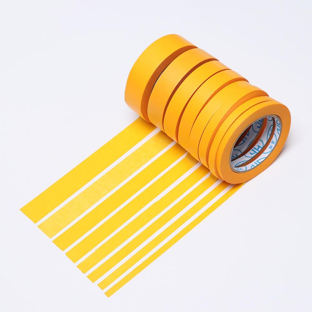Nouveau 50M/30M jaune ruban de masquage voiture autocollant adhésif peinture à la main papier peintre décor artisanat usage général artisanat accessoires