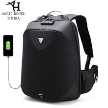 Arctique HUNTER Anti-vol étanche USB hommes 15.6 pouces sac à dos pour ordinateur portable avec TSA douane serrure cahier sac de voyage pour homme 2019