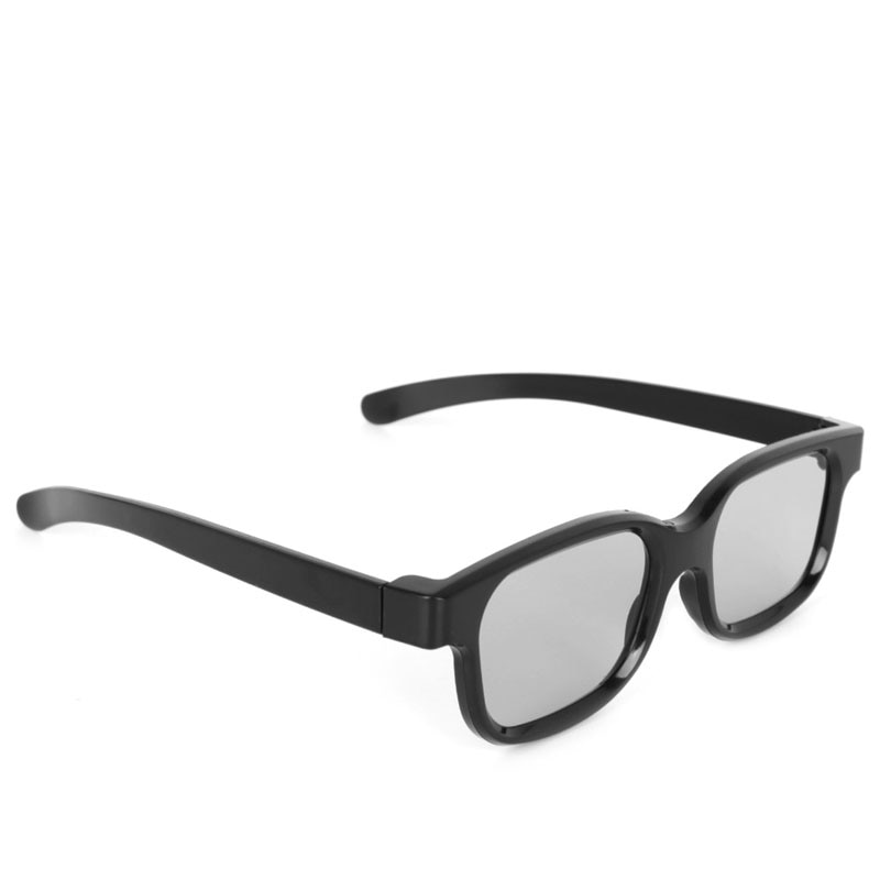 1 ud. Gafas polarizadas pasivas 3D negras H3 para TV Real D 3D cines