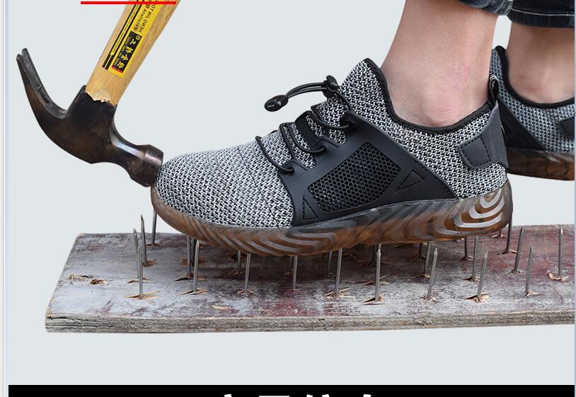 Zapatos de seguridad transpirables para exposición, sandalias de trabajo antigolpes ligeras de verano para hombre, Zapatillas de malla para senderismo