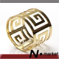 100 pieces circular gold silver napkin ring for restaurant wedding party christmas napkin holder 2014