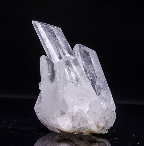 Grupo de cristal de cuarzo de roca Natural independiente, muestra de geoda drusa, cada piedra es única (aproximadamente 1,5 pulgadas)
