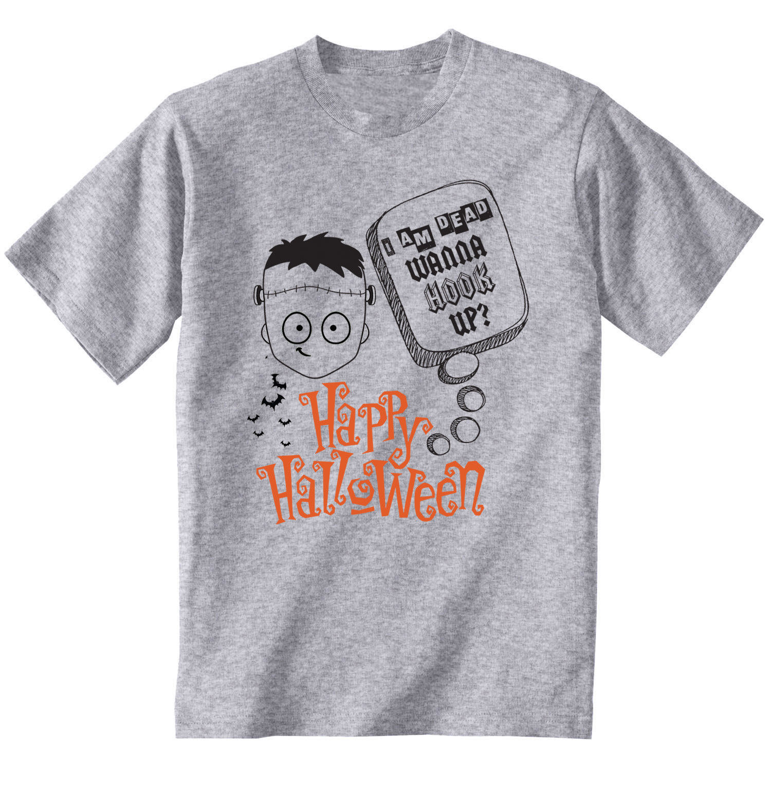 Happy Halloween Wanna Hook Up divertida manga corta o-cuello camisetas para hombres