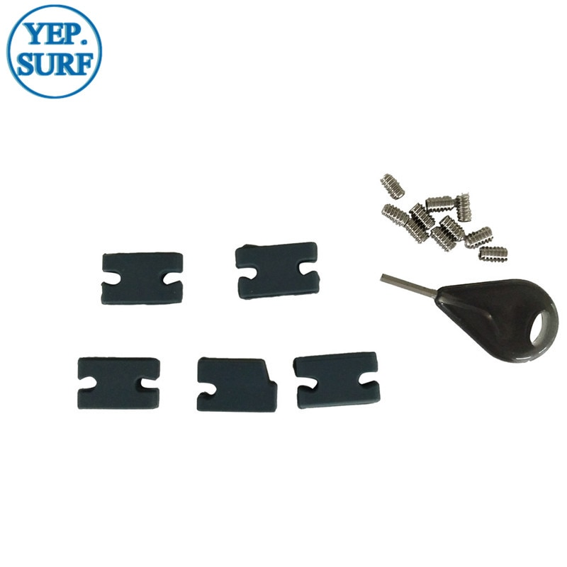 Surf FCS II Compatibility Kit Tab Infill Kit FCSII tab infill kit for FCS 1 in FCS II fin box 5pcs PMS426c silicone  inserts  10