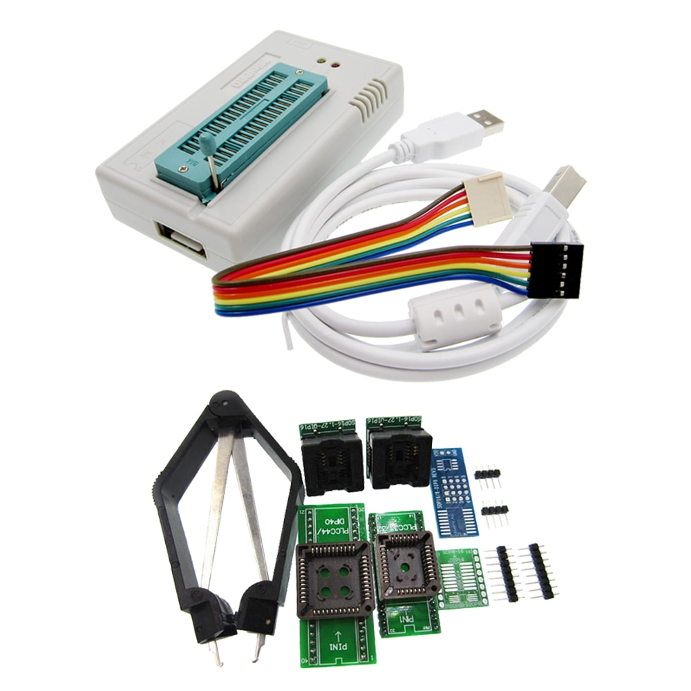 1 kit MiniPro V7.05 TL866II Plus Prgrammer USB programador Universal/programa Bios + Adaptador 6 piezas sin caja