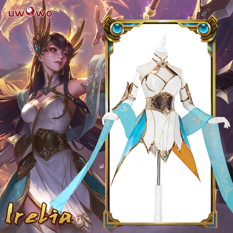 Flash venta Irelia LOL Cosplay lol espada divina Irelia traje cosplay